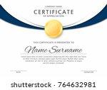 certificate template in elegant ... | Shutterstock .eps vector #764632981