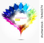 abstract colorful background | Shutterstock .eps vector #76463374