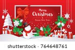 merry christmas and happy new...   Shutterstock .eps vector #764648761