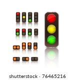 traffic light icon set isolated ... | Shutterstock .eps vector #76465216