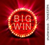 big win slots banner casino on... | Shutterstock .eps vector #764653594