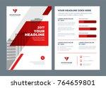 red brochure annual report... | Shutterstock .eps vector #764659801