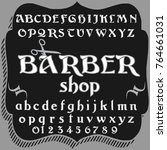 vector set of hand drawn fonts... | Shutterstock .eps vector #764661031