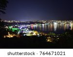 a night view of bodrum | Shutterstock . vector #764671021