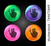 swipe down crystal ball design... | Shutterstock .eps vector #764671849