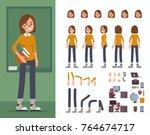 student  character constructor... | Shutterstock .eps vector #764674717