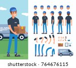 delivery man  character... | Shutterstock .eps vector #764676115