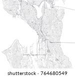 streets of seattle  city map ... | Shutterstock .eps vector #764680549