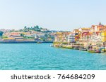 waterfront of river douro in... | Shutterstock . vector #764684209