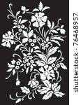 white flowers on black... | Shutterstock .eps vector #76468957