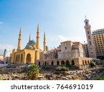 coexistence of religions in... | Shutterstock . vector #764691019