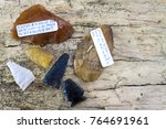 antique stone arrowheads and... | Shutterstock . vector #764691961