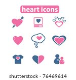 heart   love icons  signs ... | Shutterstock .eps vector #76469614