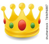 crown emoji icon object symbol... | Shutterstock .eps vector #764696887