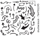 hand drawn set of arrow... | Shutterstock .eps vector #764701195