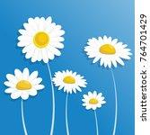 chamomile. paper flower. white... | Shutterstock .eps vector #764701429