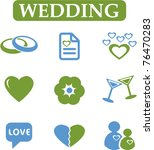 fresh wedding icons  signs ...