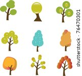 tree icons  signs  vector... | Shutterstock .eps vector #76470301