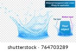 translucent water splash crown... | Shutterstock .eps vector #764703289