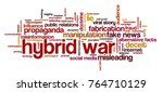 word cloud with words related... | Shutterstock .eps vector #764710129