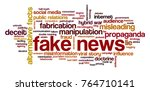 word cloud with words related... | Shutterstock .eps vector #764710141