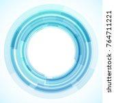 geometric frame from circles ... | Shutterstock .eps vector #764711221