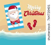 christmas vacations design | Shutterstock .eps vector #764720401