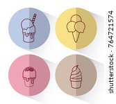 ice cream design | Shutterstock .eps vector #764721574