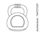 kettlebell weight gym | Shutterstock .eps vector #764727229