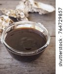 oyster sauce on wood background | Shutterstock . vector #764729857