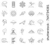 environ icons set. outline set... | Shutterstock .eps vector #764734381