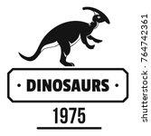 dinosaur lizard logo. simple...   Shutterstock .eps vector #764742361