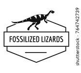 jurassic lizard logo. simple...   Shutterstock .eps vector #764742739