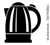 electric kettle icon. simple... | Shutterstock .eps vector #764743861