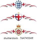 england patriotic banner set.... | Shutterstock .eps vector #764745349
