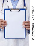 close up of a clipboard with... | Shutterstock . vector #76474684