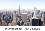 new york city skyscrapers from... | Shutterstock . vector #764752681