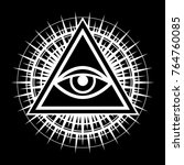 all seeing eye of god   the eye ... | Shutterstock .eps vector #764760085
