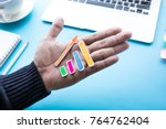 business growth concepts with... | Shutterstock . vector #764762404