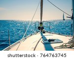 yachting on sail boat during...   Shutterstock . vector #764763745