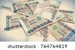 background with money thai... | Shutterstock . vector #764764819