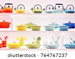 kitchen utensils on display in... | Shutterstock . vector #764767237