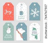 Set Of 6 Christmas Tags With...