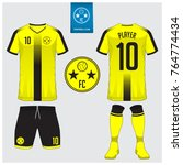 soccer jersey  football kit  t... | Shutterstock .eps vector #764774434