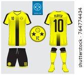 soccer jersey  football kit  t... | Shutterstock .eps vector #764774434