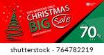 christmas sale banner template  ... | Shutterstock .eps vector #764782219