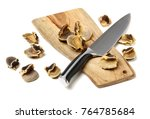 conch  meat on white background | Shutterstock . vector #764785684