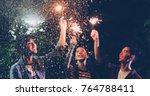 asian group of friends having...   Shutterstock . vector #764788411