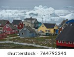 colorful houses of illulissat ... | Shutterstock . vector #764792341