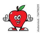 cartoon apple character giving... | Shutterstock .eps vector #764798299